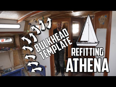 Sail Life - Bulkhead template and laying up more glass - DIY boat repair
