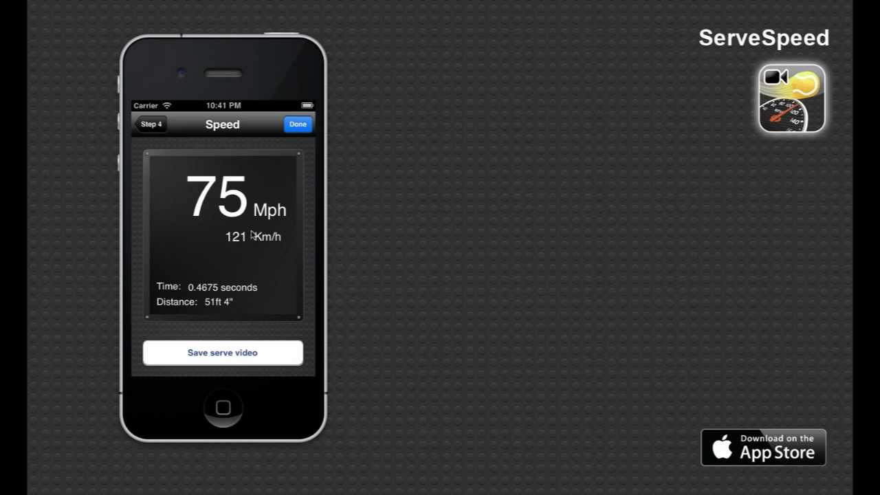 measuring app iphone servespeed iphone app to measure your tennis serve speed 12620