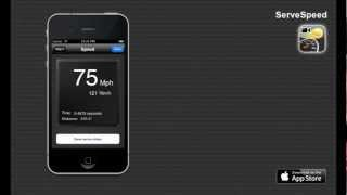 ServeSpeed - Iphone App to measure your tennis serve speed!