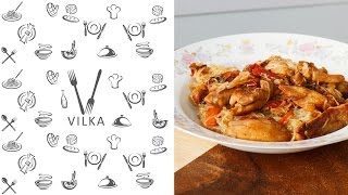 Курица в кисло-сладком соусе / Chicken in sweet and sour sauce