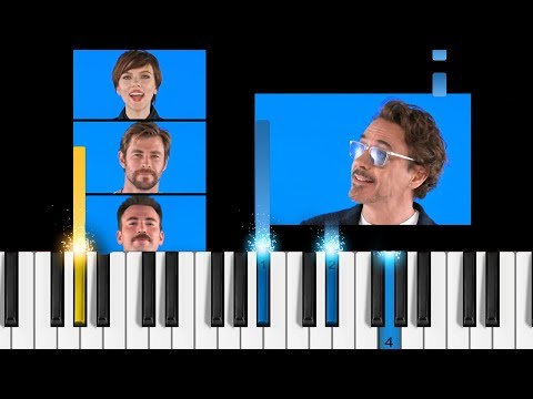 Avengers: Infinity War Cast - 'The Marvel Bunch' - Piano Tutorial / Piano Cover