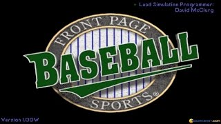 Front Page Sports: Baseball Pro '95 gameplay (PC Game, 1992)