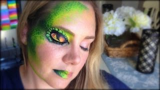 Snake Eye Face Painting and Makeup