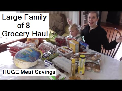 Grocery Haul AMAZING Meat Saving Deals: How Our Family of 8 Lives on Less