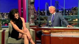 Katie Holmes on David Letterman HD