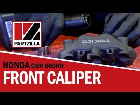 Front Brake Caliper Rebuild on a Honda CBR 600 RR   Partzilla.com
