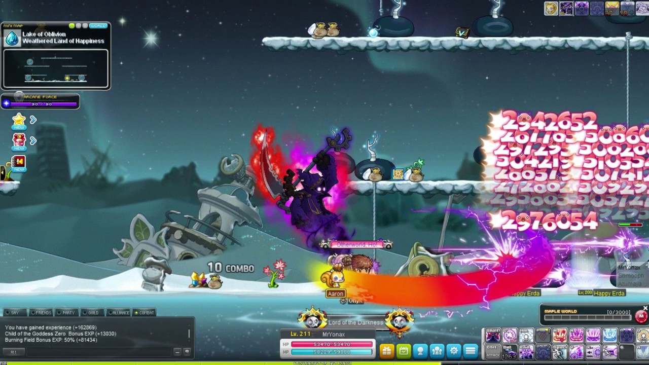 Battle mage level 10-141 (maplestory road to grand master union ep.