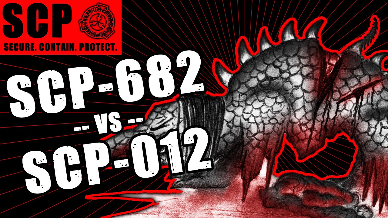 SCP-682 vs SCP-012 illustrated (A Bad Composition vs The Hard to Destroy  Reptile)