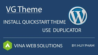 [VG Theme] Install Quickstart Wordpress Theme thumbnail
