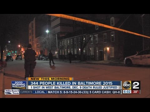 Baltimore ends 2015 with 344 murders