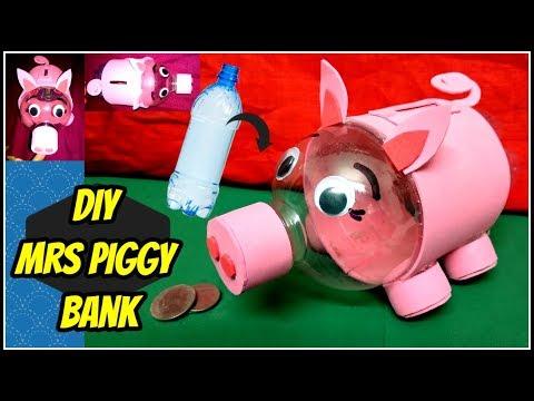 DIY Mrs Piggy Bank     Plastic Bottle craft    Best out of waste