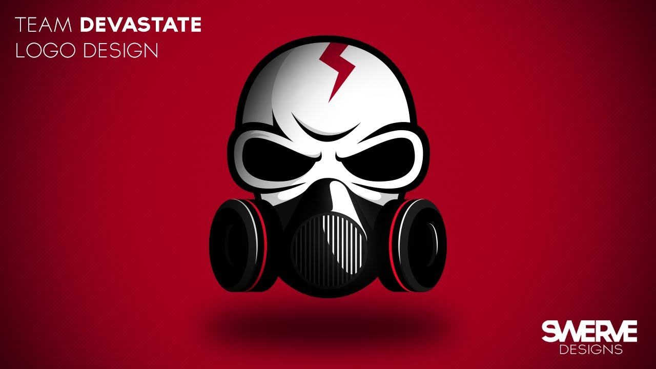 team devastate logo design illustration by swerve designs youtube