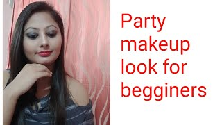 Grey Eye Party  Makeup Look For Begginers