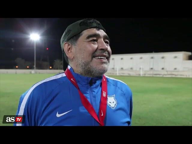 La reacción de Maradona cuando le preguntan si Cristiano es el mejor de la historia