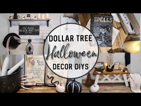 DIY DOLLAR TREE HALLOWEEN DECOR   FARMHOUSE FALL DECORATING   POTION BOOK DIY   WITCH BROOM DIY