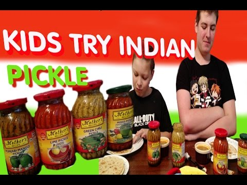 KIDS EAT INDIAN PICKLE/ MOTHER'S RECIPE/ REVIEW TASTE TEST Mp3