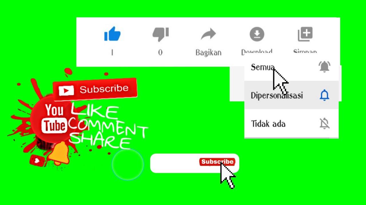 Green screen Subscribe like & share
