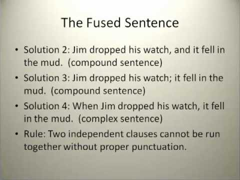Simple Grammar The Fused Sentence - YouTube
