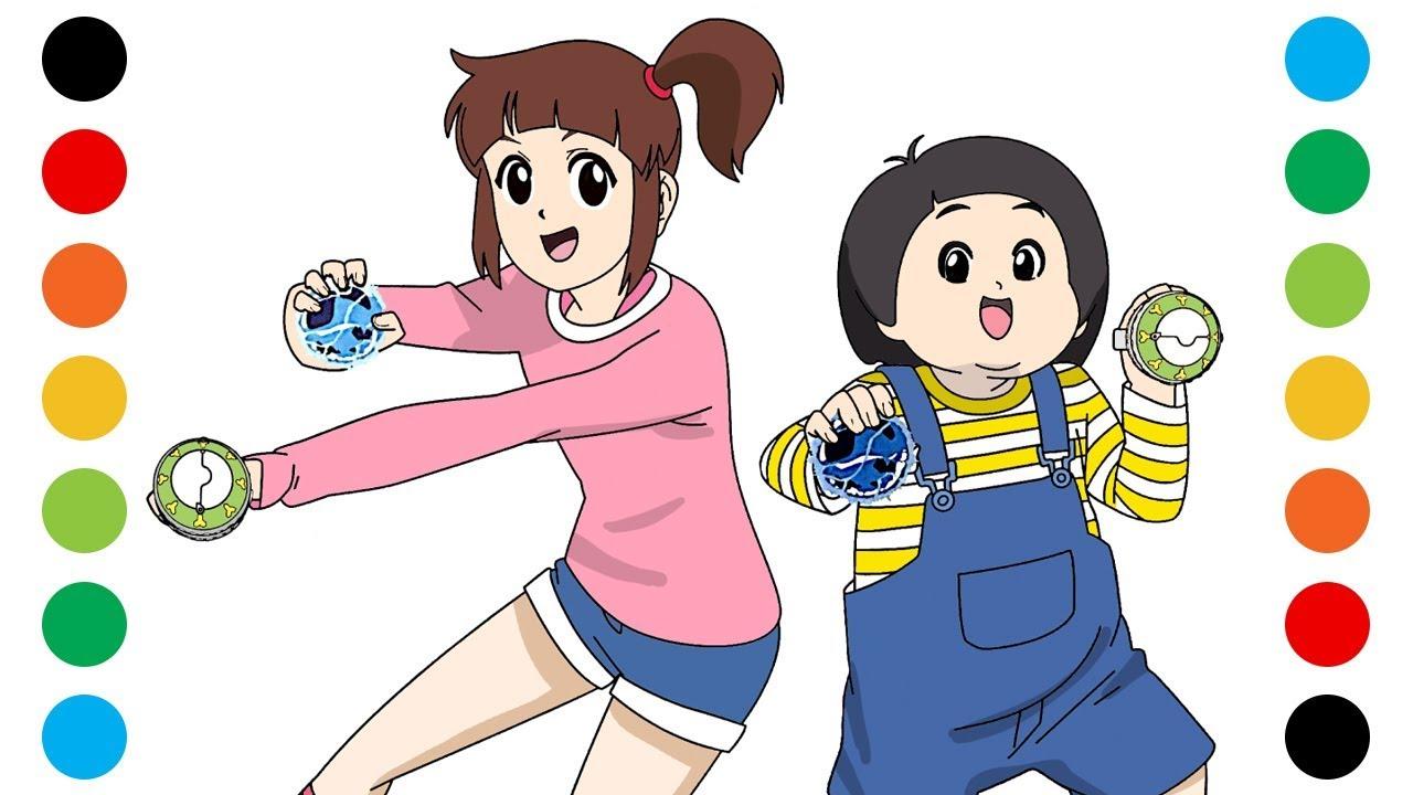 신비아파트 구하리 구두리 색칠공부 색칠놀이 장난감 - YouTube