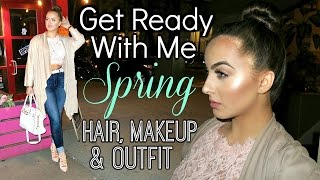 GET READY WITH ME Spring Hair, Makeup and Outfit || ft. Kylie Lip Kit