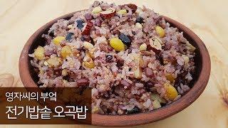 오곡밥 전기압력밭솥으로 만드는법(은행 쉽게 손질하는법)…