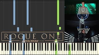 Rogue One: A Star Wars Story - Teaser Trailer Music - Piano (Synthesia)