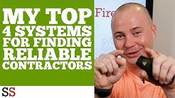 My Top 4 Systems For Finding Reliable Contractors