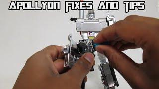 X-Transbots Master X Series MX-I  Apollyon (Megatron) Fixes and Tips