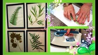 ~DIY~ Iron Pressed Garden Botanicals~