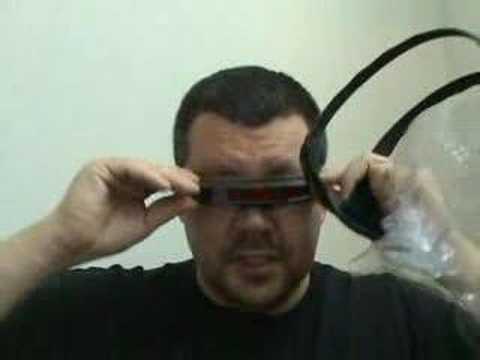 af5687ed47fe Cosplay Marvel Replica X-Men Cyclops Sunglass Visor Review - YouTube