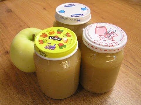 как приготовить пюре из яблок на зиму детское
