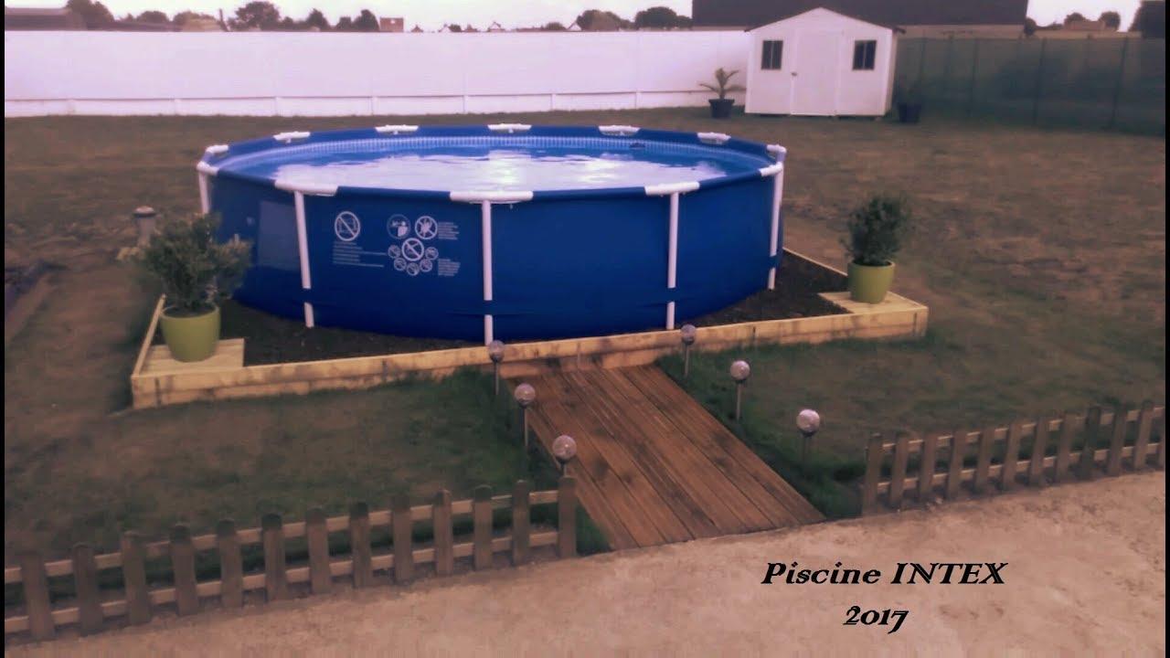 Ma piscine tubulaire intex youtube - Toboggan pour piscine hors sol intex ...