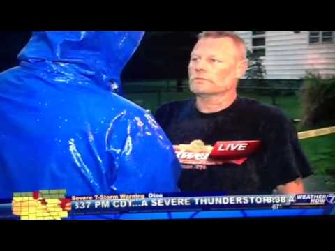 Drunk Guy Interview During Omaha Storms