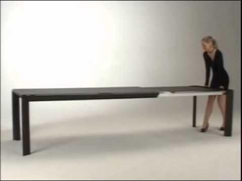 Metrò - Ozzio Design - Apertura e chiusura del tavolo allungabile ...