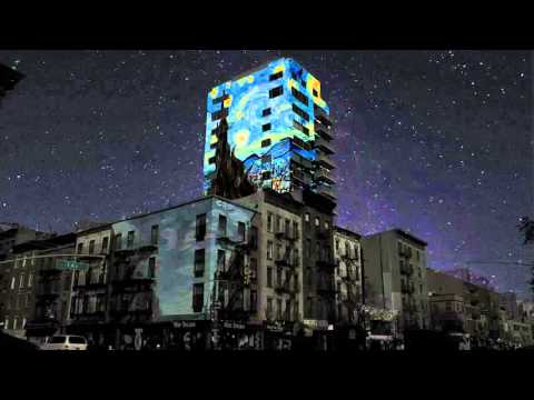 Van Gogh Building at Night Projection Project Fall 2016 NYU