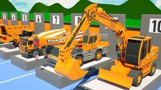 Trucks Construction Show for Kids - Excavator, Dump Truck, Bulldozer, Mixer Truck for Children