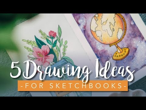 Sketchbook Ideas for Beginners and Artists - 5 Easy Drawings