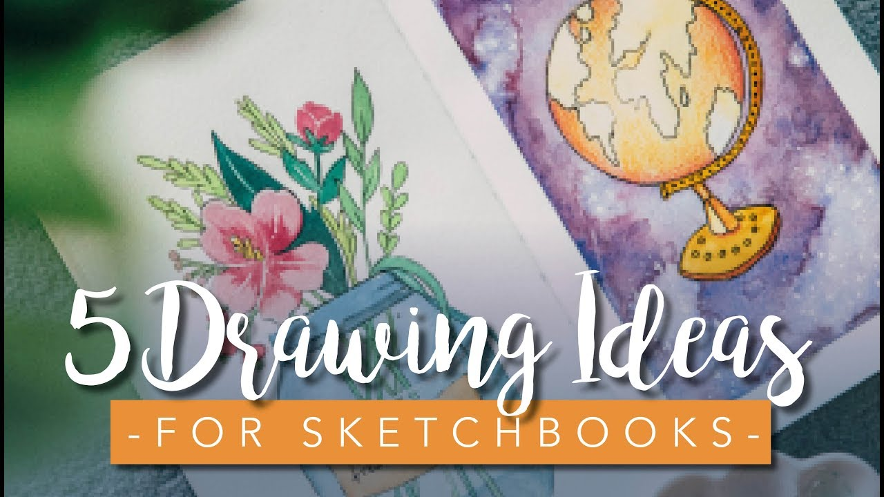 Sketchbook Ideas For Beginners And Artists 5 Easy Drawings Youtube
