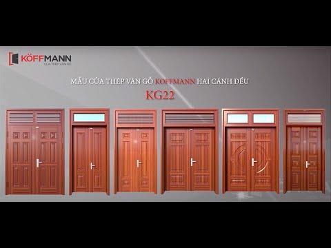 [HOT] 6 mẫu cửa thép vân gỗ Koffmann 2 cánh đều đẹp nhất hiện nay