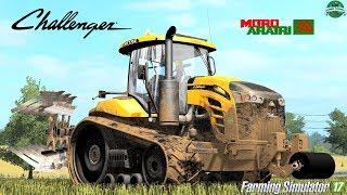 Farming Simulator 17   Challenger MT775E + Moro Raptor TRV-20A