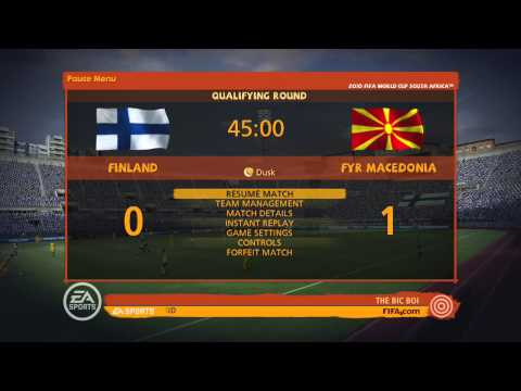 2010 Fifa World Cup South Africa:  Finland game 2 Fifa world cup on BFEN