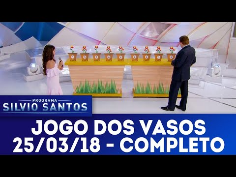 Jogo dos Vasos - Completo | Programa Silvio Santos (25/03/18)