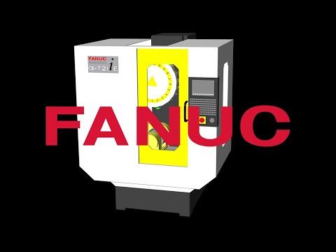 FANUC ROBODRILL Alpha T21ie Machine Tool CNC Simulation with NCSIMUL