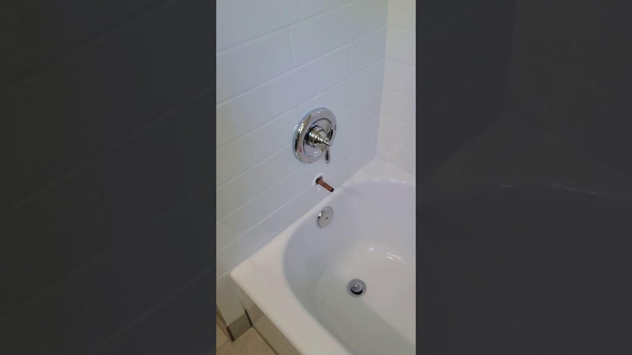 tub faucet falls off - YouTube