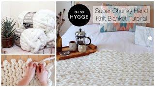 Easy Alternative to Arm Knitting - Hand Knit Chunky Scandi Blanket