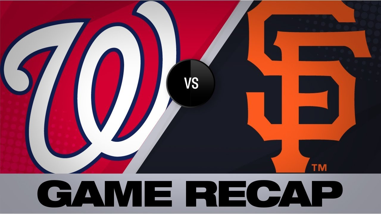 Fedde's scoreless start leads Nats in 4-0 win | Nationals-Giants Game Highlights