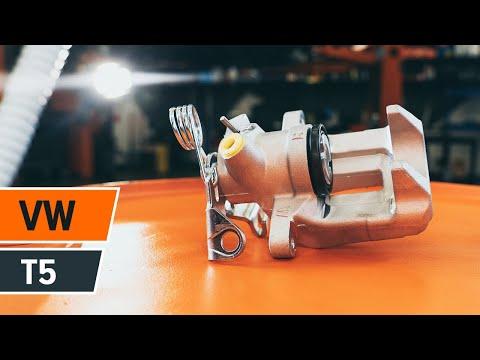 How to change rear brake caliper VOLKSWAGEN T5 TUTORIAL   AUTODOC