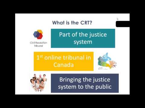 Civil Resolution Tribunal  BC's New Online Tribunal HD