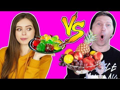 ОБЫЧНАЯ ЕДА ПРОТИВ МАРМЕЛАДА Челлендж Афинка против Эльфика Real Food vs Gummy Food 🐞 Эльфинка