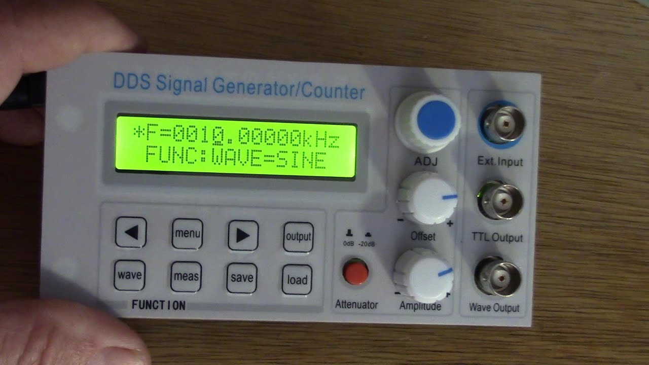 Video review of a $50 signal generator